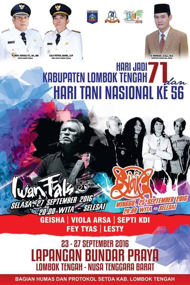 Hari Jadi Kabupaten Lombok Tengah Ke-71