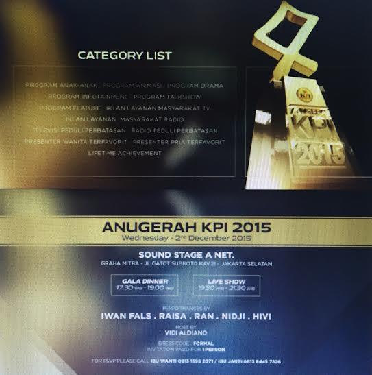 ANUGERAH KPI 2015